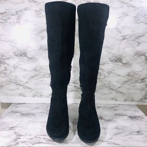 Torrid Black Corset Knee High Boots Size 11W